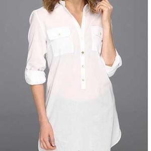 Lily Pulitzer Tunic Size Small Captiva Solid White